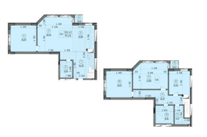 ЖК Зенит: планировка 5-комнатной квартиры 154 м²