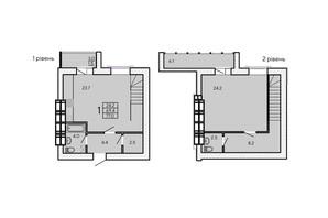ЖК ZerNova: планировка 3-комнатной квартиры 77 м²