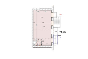ЖК Жемчужина Подолья: планировка помощения 74.75 м²