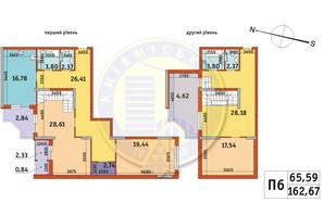 ЖК Злагода: планування 2-кімнатної квартири 162.67 м²