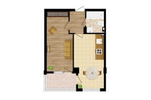 ЖК Золота Ера: планування 1-кімнатної квартири 42.5 м²