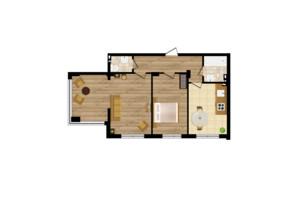 ЖК Золота Ера: планування 2-кімнатної квартири 61.5 м²