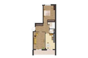 ЖК Золота Ера: планування 2-кімнатної квартири 74.18 м²