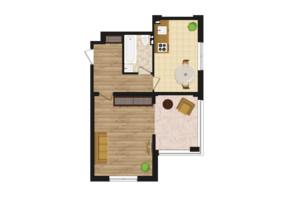 ЖК Золота Ера: планування 1-кімнатної квартири 54.1 м²