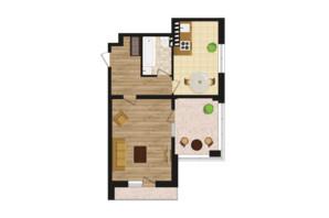 ЖК Золота Ера: планування 1-кімнатної квартири 52.5 м²