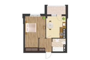 ЖК Золота Ера: планування 1-кімнатної квартири 43.98 м²
