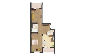 ЖК Золота Ера: планування 2-кімнатної квартири 74.23 м²