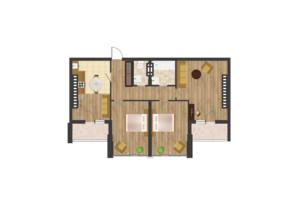 ЖК Золота Ера: планування 3-кімнатної квартири 99.7 м²