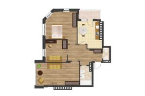 ЖК Золота Ера: планування 3-кімнатної квартири 90.75 м²