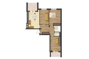 ЖК Золота Ера: планування 3-кімнатної квартири 99.56 м²