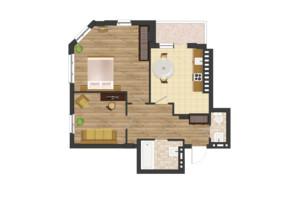ЖК Золота Ера: планування 2-кімнатної квартири 62.87 м²
