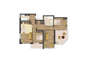 ЖК Золота Ера: планування 3-кімнатної квартири 103.52 м²