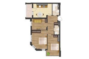 ЖК Золота Ера: планування 2-кімнатної квартири 70.81 м²