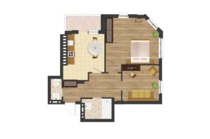 ЖК Золота Ера: планування 2-кімнатної квартири 66.67 м²