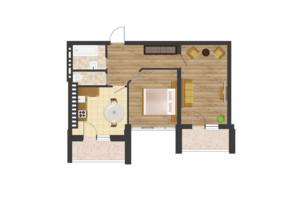 ЖК Золота Ера: планування 2-кімнатної квартири 64.23 м²
