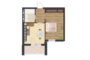ЖК Золота Ера: планування 1-кімнатної квартири 41.63 м²
