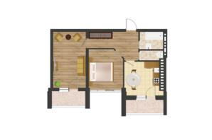 ЖК Золота Ера: планування 2-кімнатної квартири 64.3 м²