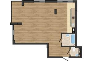 ЖК Золота Ера: планування 2-кімнатної квартири 66.91 м²