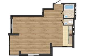 ЖК Золота Ера: планування 2-кімнатної квартири 67.2 м²