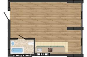 ЖК Золота Ера: планування 1-кімнатної квартири 42.31 м²