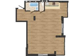 ЖК Золота Ера: планування 2-кімнатної квартири 68.35 м²