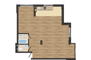 ЖК Золота Ера: планування 3-кімнатної квартири 81.55 м²