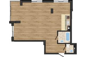 ЖК Золота Ера: планування 2-кімнатної квартири 66.59 м²