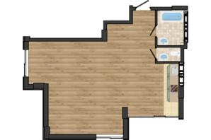 ЖК Золота Ера: планування 2-кімнатної квартири 61.09 м²