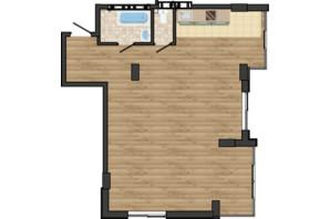 ЖК Золота Ера: планування 2-кімнатної квартири 68.12 м²