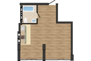 ЖК Золота Ера: планування 1-кімнатної квартири 40.75 м²