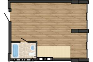 ЖК Золота Ера: планування 1-кімнатної квартири 41.92 м²