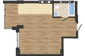 ЖК Золота Ера: планування 1-кімнатної квартири 40.28 м²