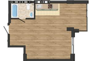 ЖК Золота Ера: планування 1-кімнатної квартири 41.26 м²