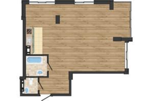 ЖК Золота Ера: планування 2-кімнатної квартири 66.04 м²