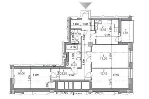 ЖК iQ-House (Айкью Хаус): планировка 3-комнатной квартиры 98.11 м²