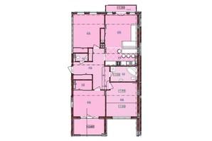 ЖК по ул. Антоновича 32: планировка 3-комнатной квартиры 119 м²