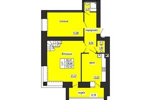 ЖК по ул. Лучаковского-Троллейбусная: планировка 5-комнатной квартиры 152.42 м²