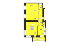 ЖК по ул. Лучаковского-Троллейбусная: планировка 3-комнатной квартиры 99.7 м²