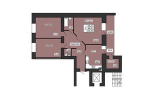 ЖК по ул. Лучаковского-Троллейбусная: планировка 3-комнатной квартиры 103.52 м²
