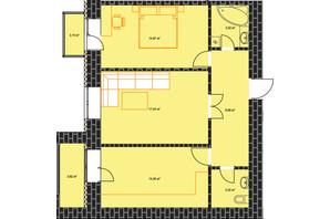 ЖК по ул. Независимости 146а: планировка 2-комнатной квартиры 67.12 м²