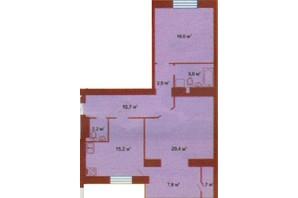 ЖК по ул. Скоропадского: планировка 2-комнатной квартиры 83 м²