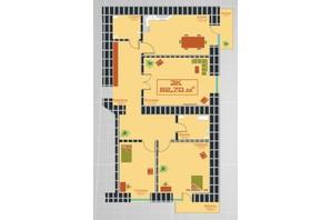 ЖК по ул. Железнодорожной 3: планировка 3-комнатной квартиры 82.7 м²