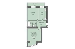 ЖК по вул. П. Орлика 7: планування 2-кімнатної квартири 74.94 м²