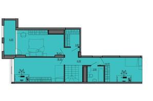 ЖК по вул. Винниченка: планування 2-кімнатної квартири 68.2 м²