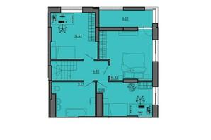 ЖК по вул. Винниченка: планування 2-кімнатної квартири 63.44 м²