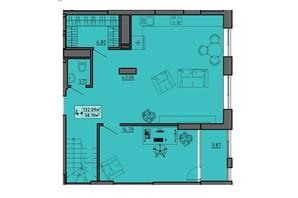 ЖК по вул. Винниченка: планування 4-кімнатної квартири 132.09 м²