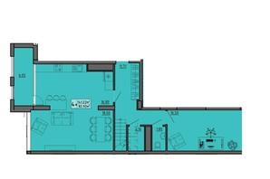 ЖК по вул. Винниченка: планування 4-кімнатної квартири 141.22 м²
