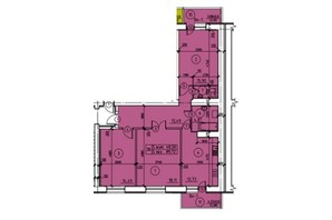 ЖК пр. М. Лушпы: планировка 3-комнатной квартиры 93.18 м²