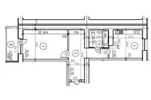 ЖК пр. М. Лушпы корпус 22/2: планировка 1-комнатной квартиры 48.39 м²