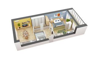 ЖК пр. М. Лушпы, корпус 26: планировка 2-комнатной квартиры 67.42 м²